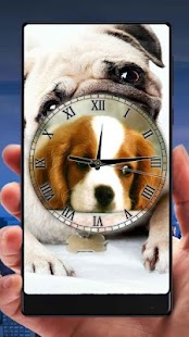 Puppies Analog Clock Live Wallpaper - náhled