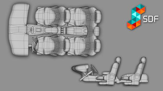 SDF 3D (Subdivformer Studio) - náhled