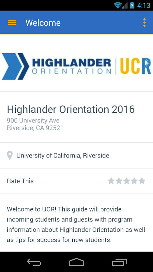 UC Riverside (UCR)- screenshot