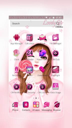 玩免費個人化APP|下載粉紅可愛的女孩主題 app不用錢|硬是要APP