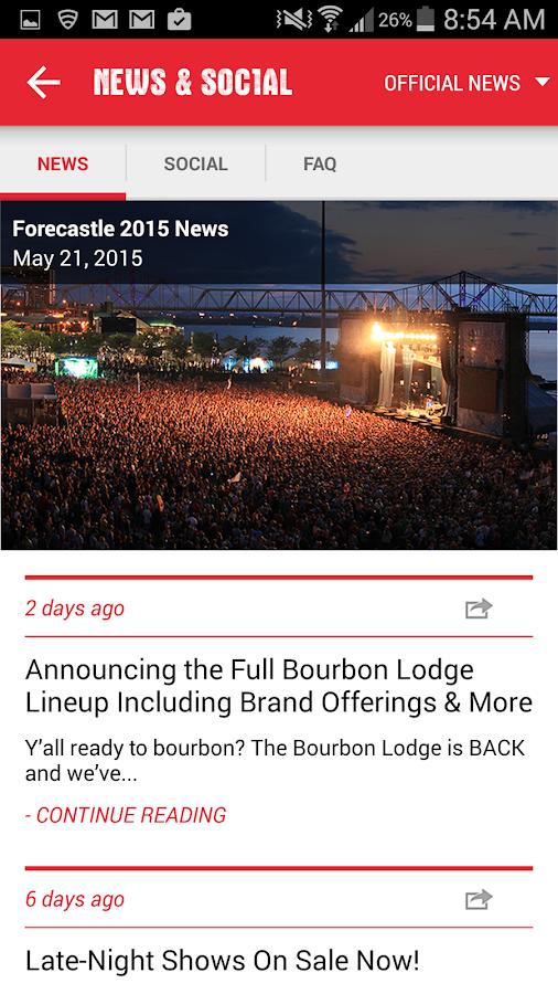 Forecastle Festival- screenshot