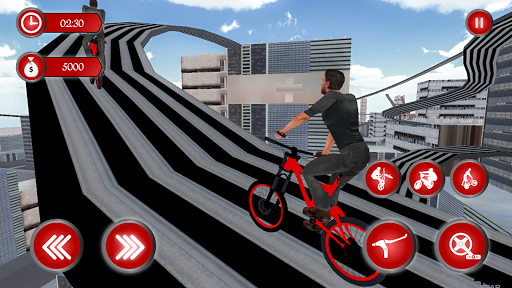 BMX RoofTop Bicycle Tricks 1.4 Mod screenshots 1