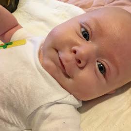Happy Boy by Sandy Stevens Krassinger - Babies & Children Babies ( nose, happy, baby, boy, eyes, smile )