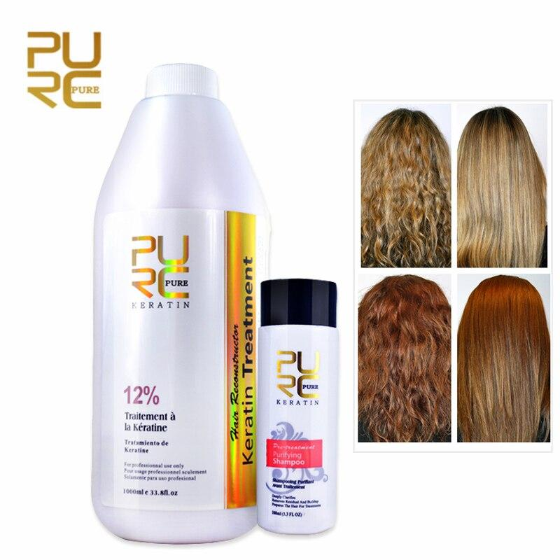 Purc 1000ml Brazilian Keratin Hair Straighten Treatment 100ml Purifying Shampoo Ebay