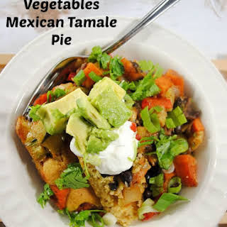Roasted Vegetable Mexican Tamale Pie.