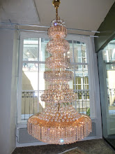 Photo: Chandelier in our hotel