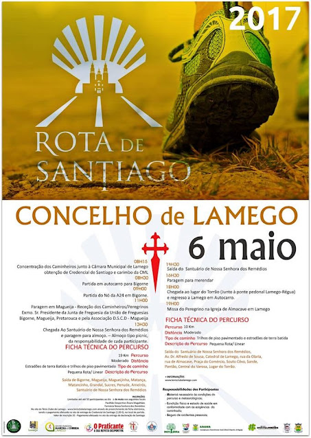 Programa – Rota de Santiago – Lamego – 6 de Maio de 2017