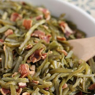 Crock Pot Bacon Green Beans.