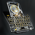 Silver Luxury Watch Wallpaper and Keyboard icon