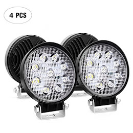 Set 4 x Proiector LED BAR, OFF ROAD, rotund, 9 LED, 27 W, 11 cm