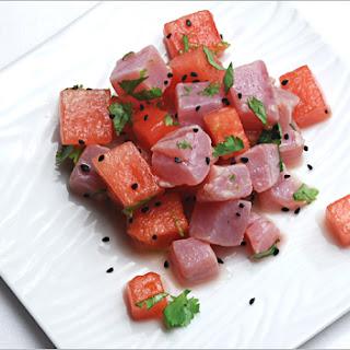 Tuna Watermelon Ceviche.