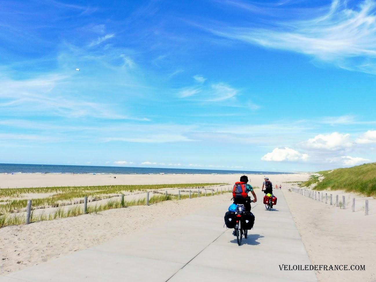 Les plages sauvages entre Den Helder et Wijk aan Zee - Blog LF1 : La véloroute de la Mer du Nord d'Amsterdam à Bruges par veloiledefrance.com