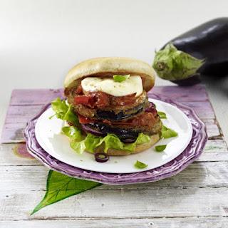 Eggplant Parmigiana Burgers