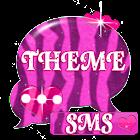 Rosa Zebra-GO SMS Theme icon
