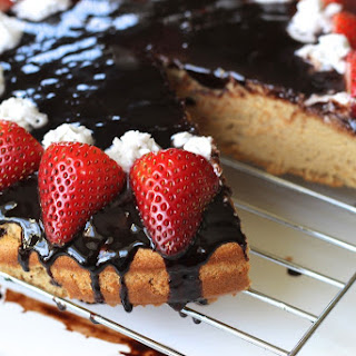 Paleo Angel Food Cake + Chocolate Glaze