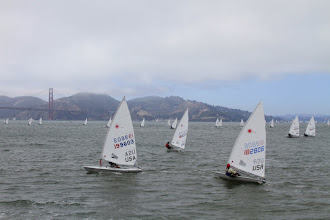 Photo: We head back to St. Francis Yacht Club to watch the Laser radial sailors.
