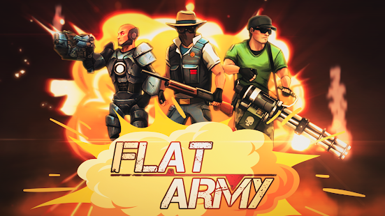 Flat Army: 2D Shooter Screenshot