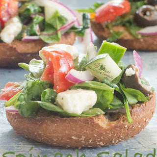 Spinach Salad On A Bagel