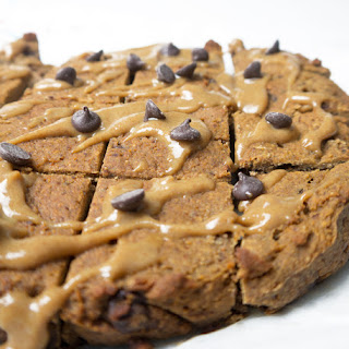 Healthy Caramel Chocolate Chip Chickpea Blondies