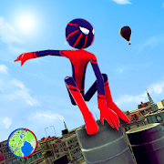 Stickman Spider Rope Hero - Gangster Crime City