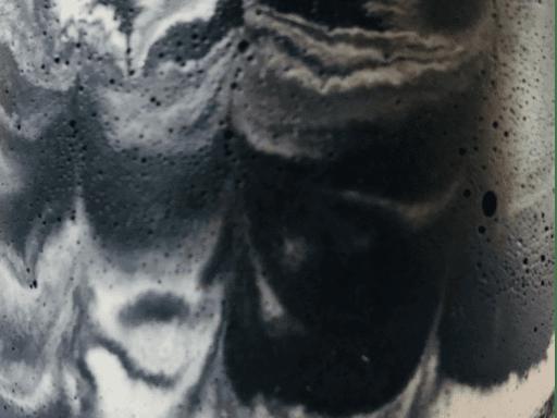 béton marbé anthracite et beige naturel