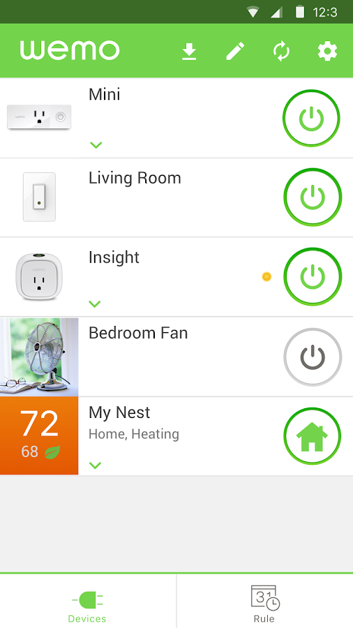 WeMo- screenshot