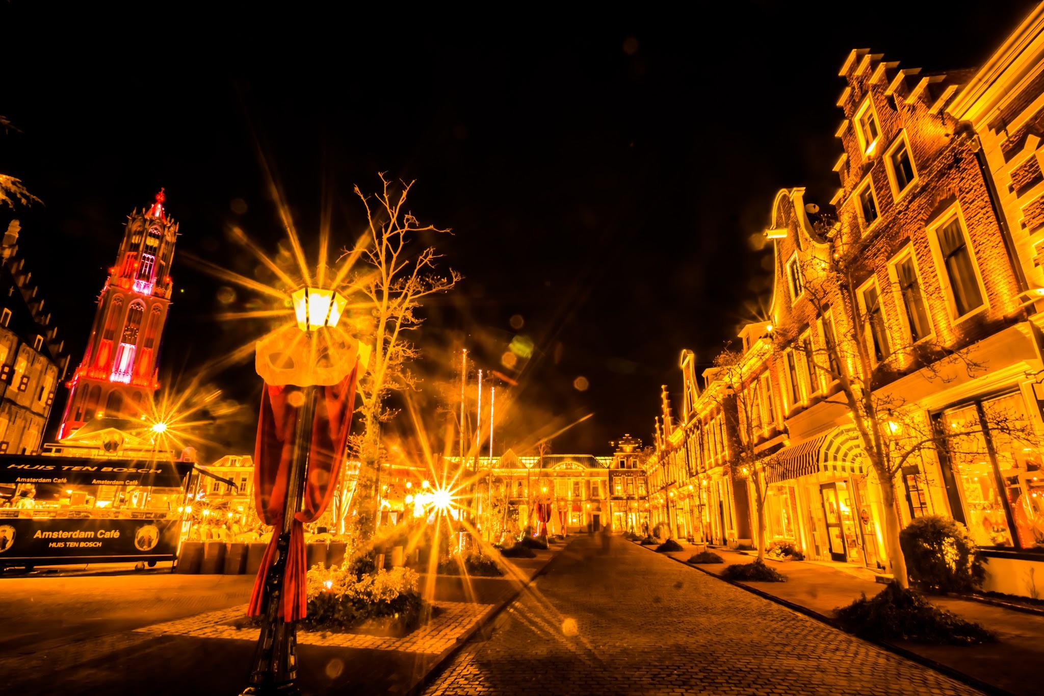 ハウステンボス イルミネーション 光の王国 アムステルダムシティ6