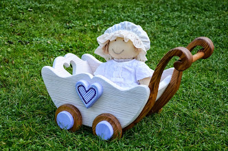 Photo: wózek drewniany