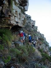 Photo: Follow a narrow traverse above Fresnaye