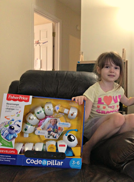 STEM learning is fun for preschoolers with the Fisher-Price Think & Learn Code-a-Pillar