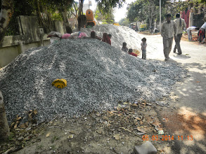 """Photo: Showing the """" Rodi"""" and the Stone Dust used- per Nanak Builders Best Quality !"""