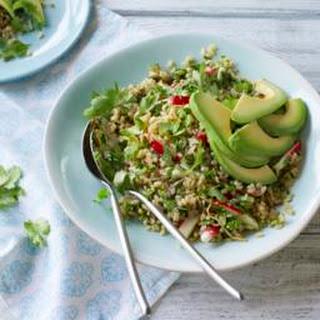 Rice Bowl With Ginger, Radish And Avocado.
