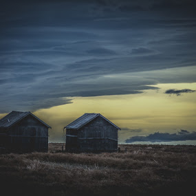 by Derek Martin - Buildings & Architecture Decaying & Abandoned ( clouds, field, yyc, barn, alberta, 403, dusk, skies, abandoned )