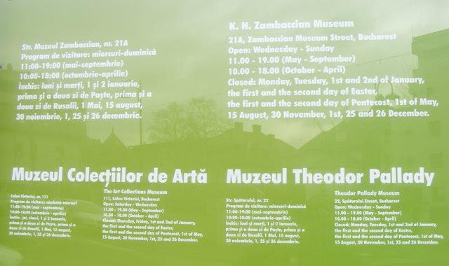 ZAMBACCIAN MUSEUM BUCHAREST VISITING HOURS