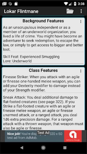 Second Edition Character Sheet 0.97f screenshots 6
