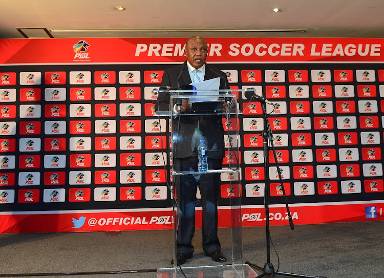 Dr Irvin Khoza during the PSL Chairman press conference at PSL Offices, Johannesburg on 03 May 2018.