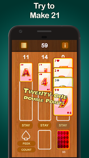 Puzzle 21 - Blackjack Solitaire Hybrid 1.001 screenshots 2