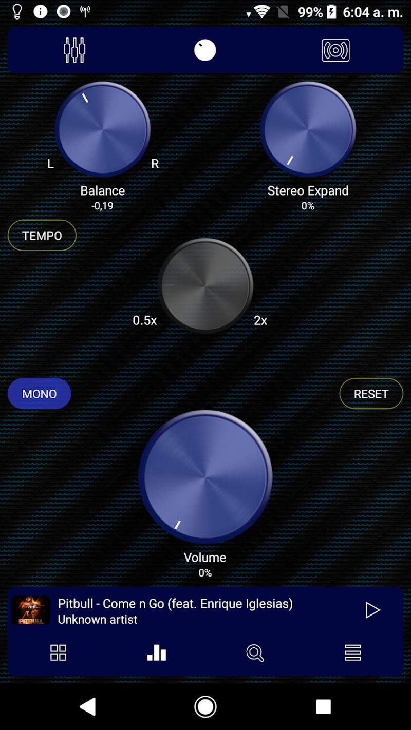 Poweramp v3 skin blue carbon Screenshot 2