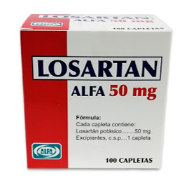 Losartan Potasico Alfa 50 mg Blister x 10 Tabletas
