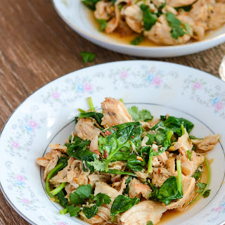 Slow Cooker Salsa Chicken and Spinach