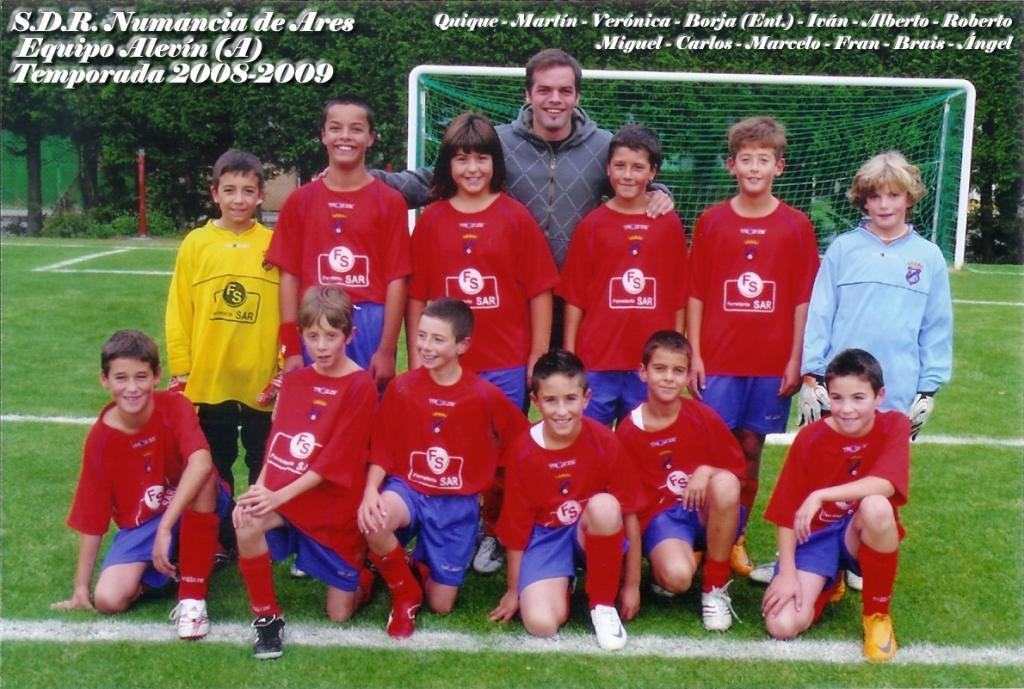 Numancia de Ares. Equipo Alevín A. Temporada 2008-2009