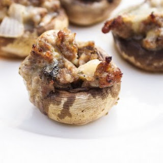 Sausage and Pepper Jack Stuffed Mushrooms