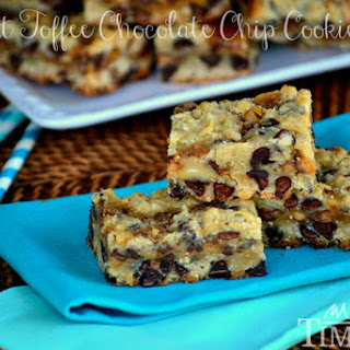 Coconut Toffee Chocolate Chip Cookie Bars