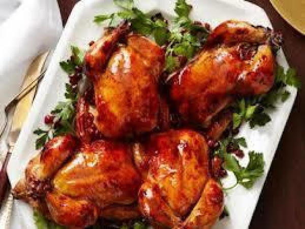 Holiday Harvest Cranberry Orange Cornish Hens Recipe