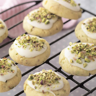 Pistachio and Rosewater Shortbread Cookies