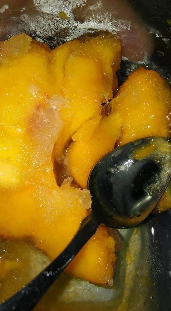 Frozen Peaches!