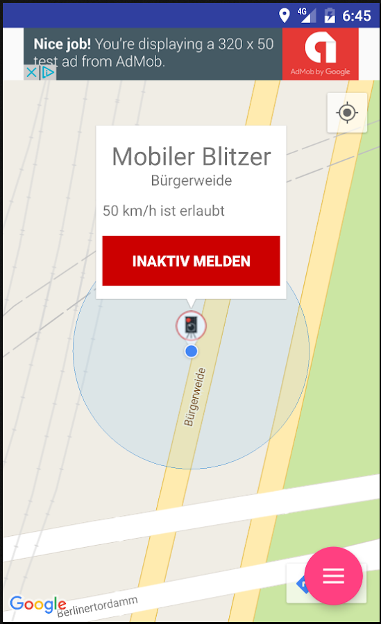 Polizei-Kontrollen – Screenshot