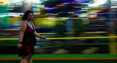 Photo: Noise prête pour le RollerDerby.