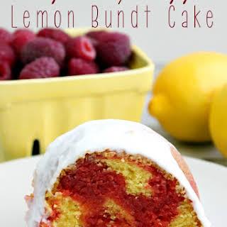 Raspberry Ripple Lemon Bundt Cake.