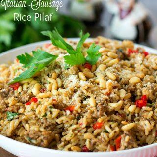 Italian Sausage Rice Pilaf.